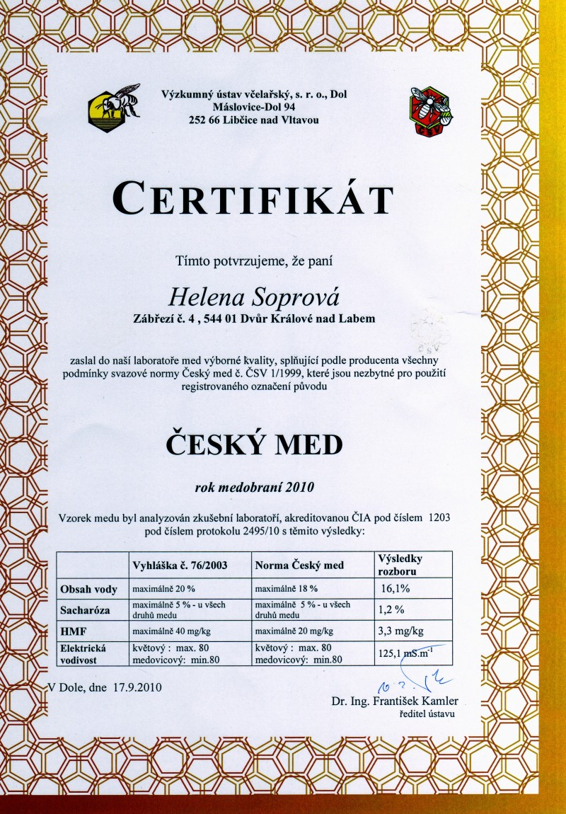 Český med 2010